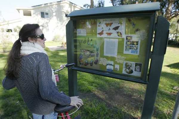 Tina Stevenson talks about the different butterflies that visit Gibbs Park in Huntington Beach.