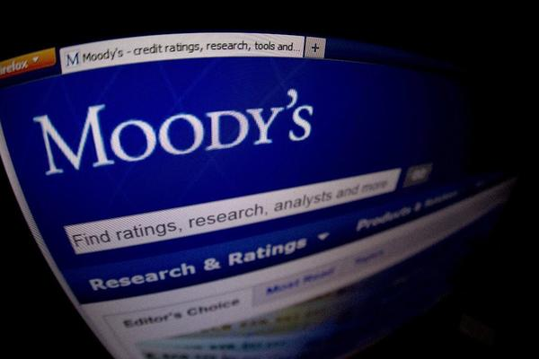 A file picture taken Jan. 17, 2012, shows a closeup of the opening page of the Moody's Investors Service website.