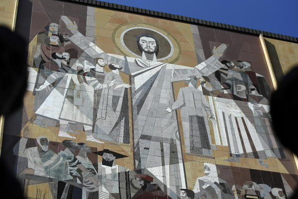 "The mural on the Hesburgh Library at Notre Dame is actually called ""Word of Life,"" but most know it as ""Touchdown Jesus."""