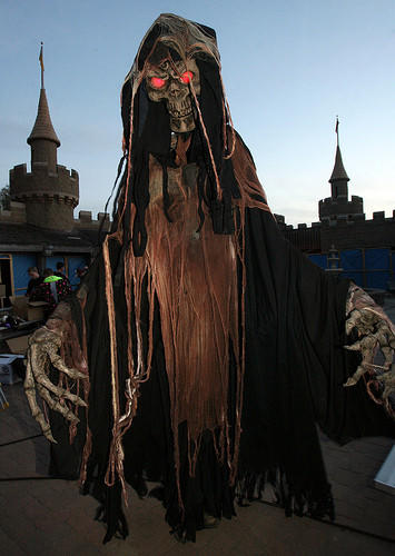 This towering ghoul is among the frightening creatures at the Hunted Forest in Storybook Land. photo by john davis taken 10/22/2010