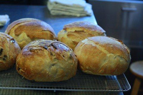 Olive bread at Fiore Market Cafe