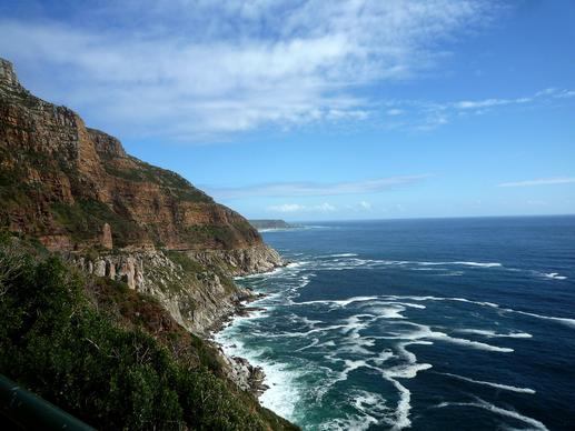 Chapman's Peak Drive, winding south from Cape Tow