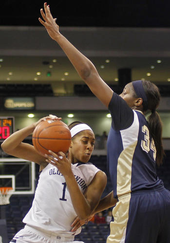 Old Dominion's Shae Kelley drives against Pittsburgh's Chyna Golden during the first half of Wednesday's game.