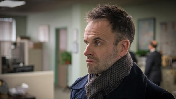"Death by washing machine is the latest case for Sherlock (Jonny Lee Miller, right) on a new ""Elementary,"" at 10 p.m. on CBS. With Lucy Liu and Jon Michael Hill."