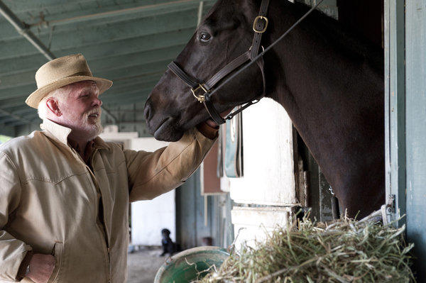 "Nick Nolte appears in a scene from the HBO series ""Luck."" HBO canceled the horse racing series, a drama set at a California racetrack, after a third horse died during the production of the series."