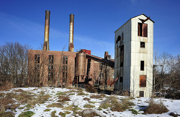"The former Municipal Electric Light Plant in Hagerstown's East End. David Harshman, the property's owner since 1996, said on Dec. 26 that he and his demolition contractor, Bud Williams of Lycoming Supply based in Williamsport, Pa., have put in ""hundreds of hours"" in the past few years trying to make the demolition project work."
