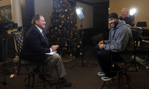 Ray Lewis and ESPN's Chris Berman