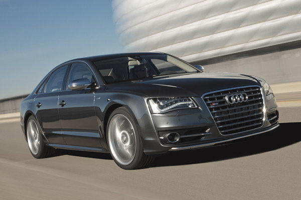 The 2013 Audi S8 starts at $110,895 and has a 520-horsepower, twin-turbocharged V-8.