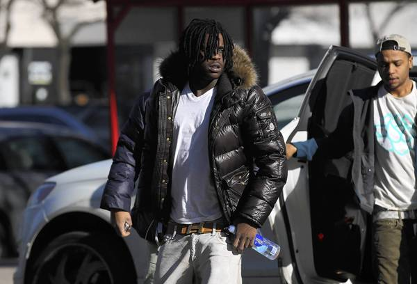 Rapper Chief Keef arrives at court Wednesday.