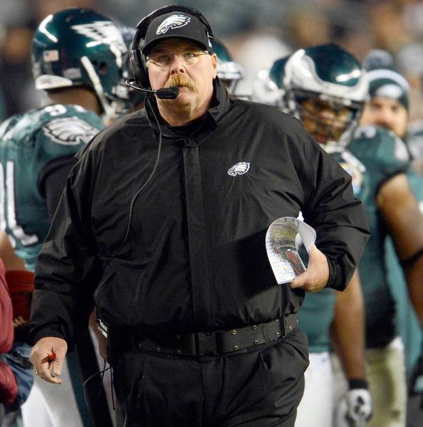 Employees of the Eagles gave Andy Reid a fond farewell. Reid also had kind words for them.