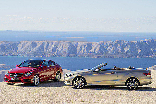 The 2014 Mercedes-Benz E-Class Coupe and Cabriolet will make their world debuts alongside the sedan and wagon versions at the 2013 Detroit Auto Show on Jan. 14.
