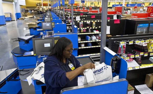 Workers at Walmart are stocking up the store in the newest location on the peninsula, in Newport News.