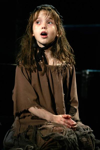 "Meg Guzulescu as Cosette in ""Les Miserables"" in 2006."