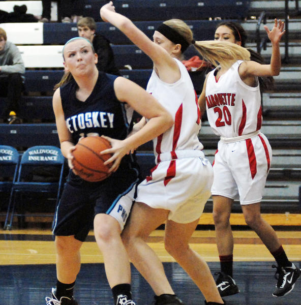 Petoskey senior guard/forward Kelsey Ance finished with a season-high 28 points and 14 rebounds Wednesday in the Northmens 69-45 win over Sault Ste. Marie.
