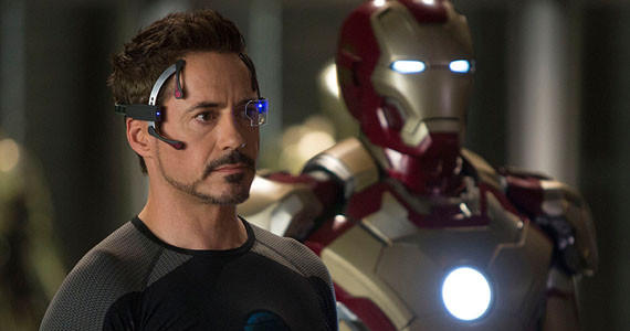 """Tony Stark uses his ingenuity to fight those who destroyed his private world and soon goes up against his most powerful enemy yet: the Mandarin."" Stars Robert Downey Jr., Guy Pearce and Gwyneth Paltrow"