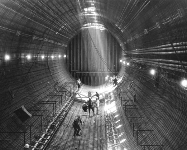 HRBT construction, first tube of second tunnel, July 1972