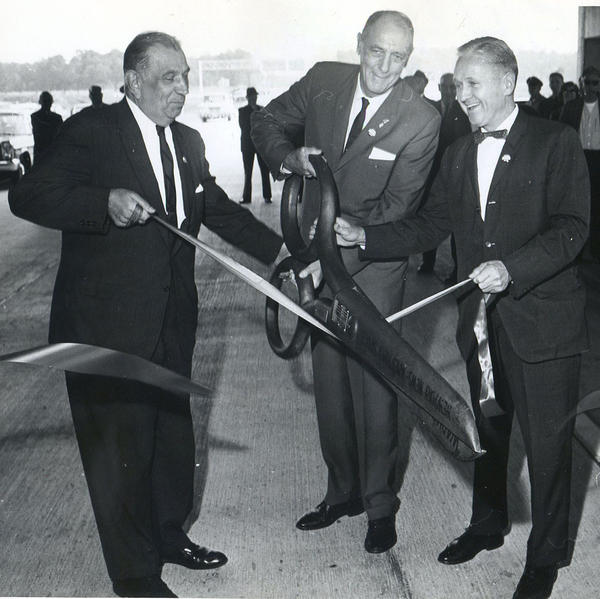 Interstate extension opened near airport, Oct. 16, 1965 Opening of a 18-mile extension, from left Hampton councilman John Mittelmaier, Newport News Mayor Donald Hyatt, Rodgers Smith, vice-chairman of the York County Board of Supervisors.
