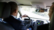 President Obama Test Drives Robert Gibbs' Car