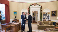 President Obama Has Lunch with Gov. Mitt Romney