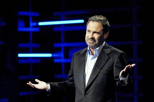 "SANTA BARBARA, CA - NOVEMBER 6: Comedian Dennis Miller presents his new weekly series ""Sports Unfiltered With Dennis Miller"" at Stage 9 Studios November 6, 2007 in Santa Barbara, California."