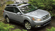 Subaru on Thursday announced that it was recalling 633,842 vehicles to check for a problem with a fuse in a puddle light that could short-circuit and lead to a fire.