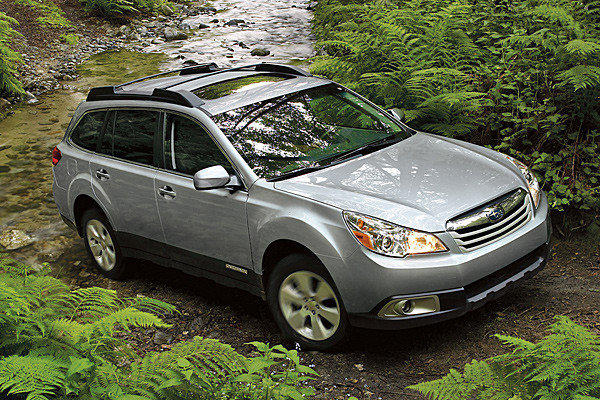 The 2011 Subaru Outback is among several models that have been recalled to fix an issue with the puddle lamps.