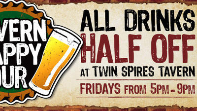 Calder's Twin Spires has half-price happy hour