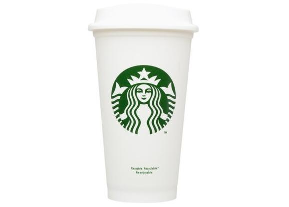 Starbucks sells $1 reusable plastic cups
