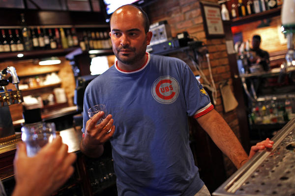 Jared Rouben samples beers at the Goose Island Brew Pub in Chicago last summer. Rouben resigned this week from Goose Island to start his own brewery, which he hopes will be producing beer by the end of 2013.