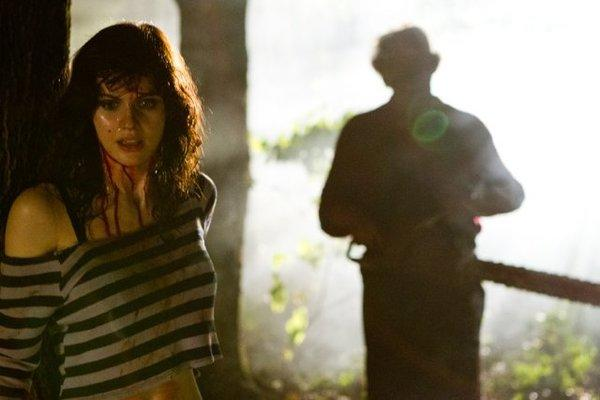 "Alexandra Daddario stars in ""Texas Chainsaw 3D,"" which is expected to collect about $16 million at the box office this weekend."