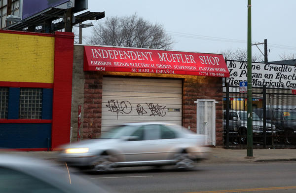Michael Kozel, owner of a Gage Park muffler shop was killed in an armed robbery Wednesday night, according to police. He was shot in the back as he tried to run from his attackers, police said.
