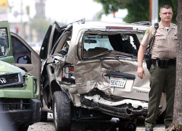 Scene of a fatal accident caused by a driver falling asleep at the wheel. According to a CDC analysis, more than 4% of people reported falling asleep at the wheel during the previous 30 days.