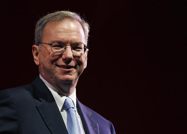 Google Chairman Eric Schmidt smiles during a rehearsal of his MacTaggart lecture speech for the Edinburgh International Television Festival in Edinburgh, Scotland. Schmidt announced he would visit North Korea on a humanitarian mission with former New Mexico governor and former U.N. Ambassador Bill Richardson.