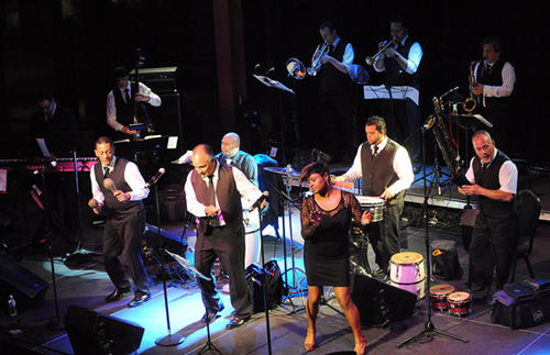the Hector Rosado's Orchestra performed at the Musikfest Cafe, during Salsa night at ArtsQuest Center at SteelStacks in Bethlehem Friday night.