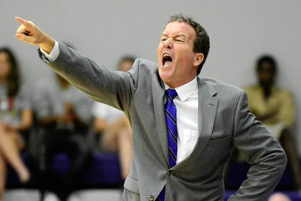 Montverde Academy head coach Kevin Boyle calls out instructions during the first half of a high school basketball game against Dr. Phillips in Montverde, Fla., Tuesday, Dec. 4, 2012. (Special to the Sentinel/Phelan M. Ebenhack) ORG XMIT: montverde10