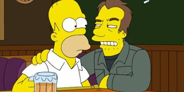 "Homer Simpson with a character who will be voiced by Tom Waits on an upcoming episode of ""The Simpsons."""