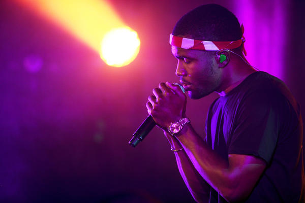 Singer-rapper Frank Ocean was cited for speeding and marijuana possession on New Year's Eve in Northern California.