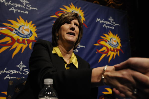 Anne Donovan was introduced as coach of the Connecticut Sun Thursday.