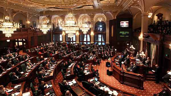 The General Assembly at the State Capitol in Springfield, Illinois on February 1, 2012.