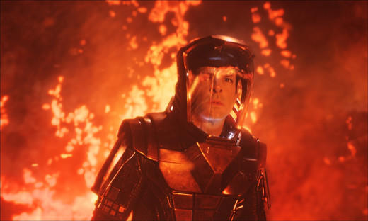 'Star Trek Into Darkness': Spock (Zachary Quinto) in Nibiru volcano