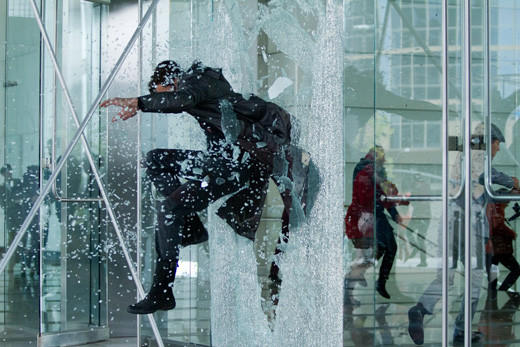 'Star Trek Into Darkness': John Harrison crashes through window.