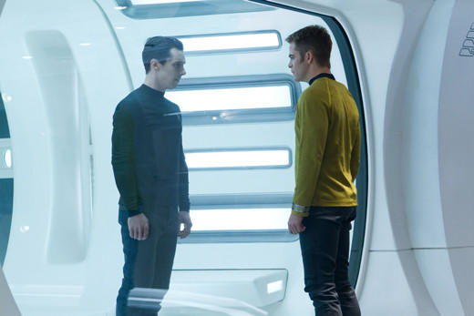 'Star Trek Into Darkness': Captain Kirk (Chris Pine) faces Harrison in the brig.