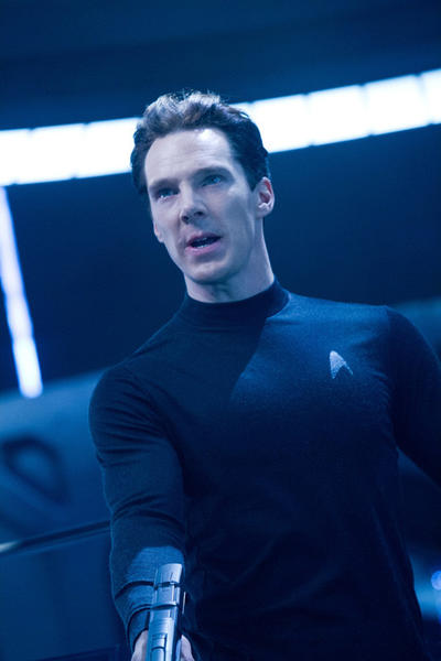 'Star Trek Into Darkness': Someone finds themselves on the business end of John Harrisons (Benedict Cumberbatch) firearm.