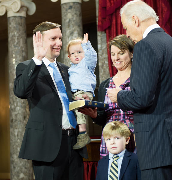 U.S. Sen. Chris Murphy takes the oath of office.