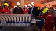 Bolivia opens first lithium plant on edge of Uyuni salt flats
