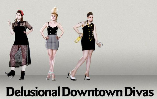 "Lena Dunham wrote, directed, produced and costarred in the 2009 Internet series ""Delusional Downtown Divas."""