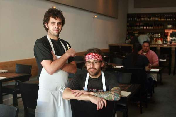 Jon Shook and Vinny Dotolo at Animal restaurant.