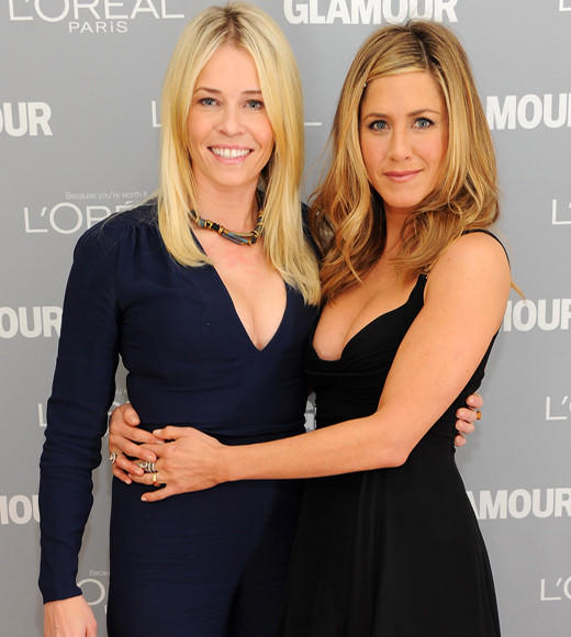 Sorry, Courteney Cox, there's a new sheriff in town. Chelsea Handler is now wearing the other half of Jennifer Aniston's proverbial BFF locket. The unlikely besties have shared bikini time in Cabo, and Chelsea openly slams Jen's arch nemesis, Angelina Jolie, at every turn. Of course Jen returns the favor with multiple visits to Chelsea's chat show.
