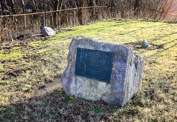 This plot of land in Williamsport, next to Conococheague Creek, is the gravesite of Jacob Friend, son of Charles Friend, who is known as the first permanent settler in what is present-day Washington County.