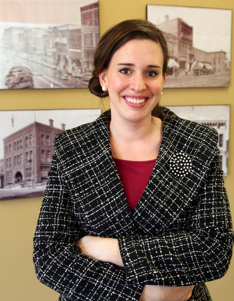 Heidi Appel, the executive director of the Aberdeen Downtown Association, is excited about garnering support for downtown Aberdeen.